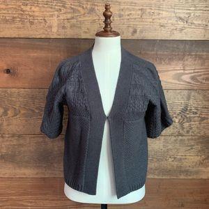 Sonoma Gray Knit Short Sleeve Cardigan